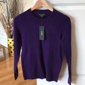Banana Republic purple Italian Superloft sweater